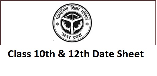 UP Board Date Sheet 2022 for Class 10th and 12th